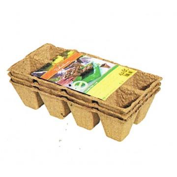 Pack de 36 Pots biodégradables 5 cm 6 plaques de 6 pots