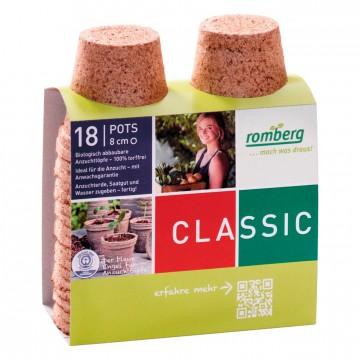 Pack de 18 Pots biodégradables 8 cm