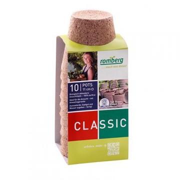 Pack de 10 Pots biodégradables 11 cm