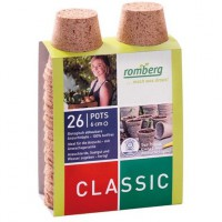 Pack de 26 pots biodégradable diam 6cm