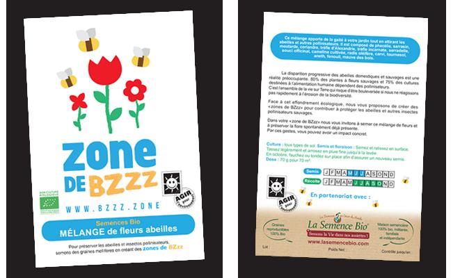 zone de BZzz - mélange de fleur abeilles- bio
