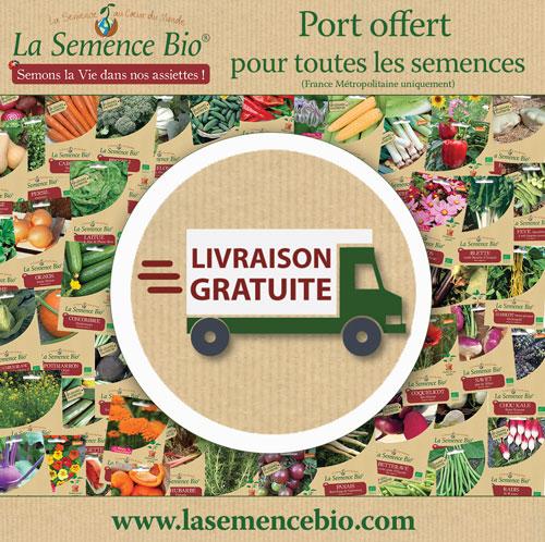 livraison offerte La Semence Bio